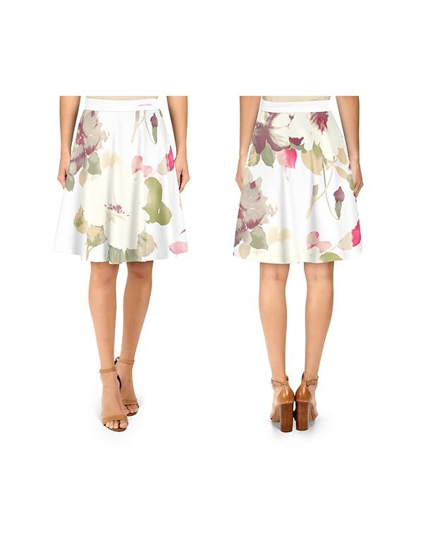 Women High Waist Flare  Skirt