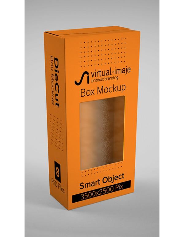 Die Cut Box Mockup
