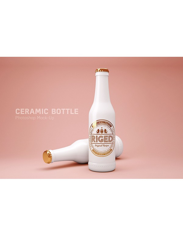 Ceramic Bottle Mockup -2