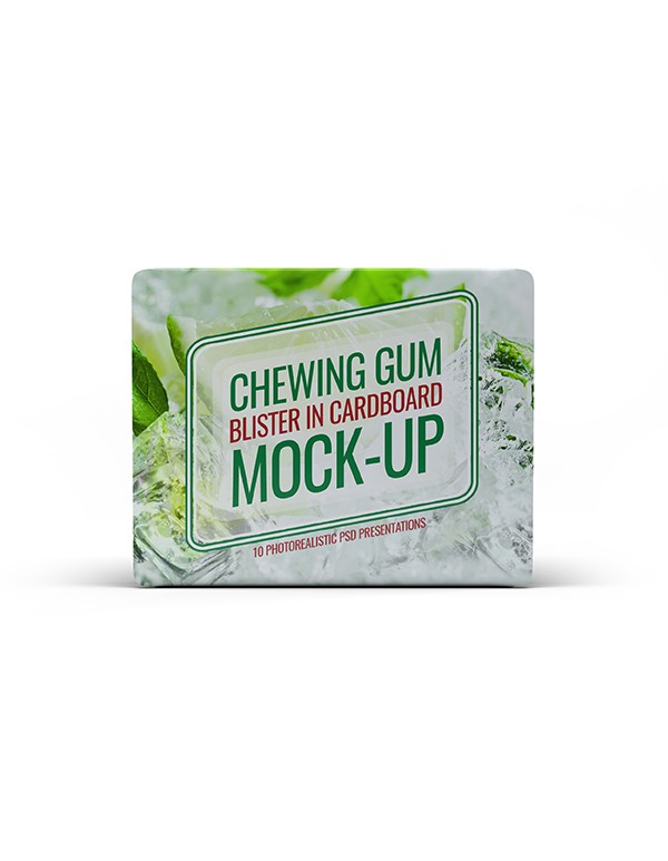 Chewing Gum blister cardboard mockup