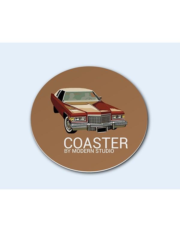 Circle Coaster Mockup