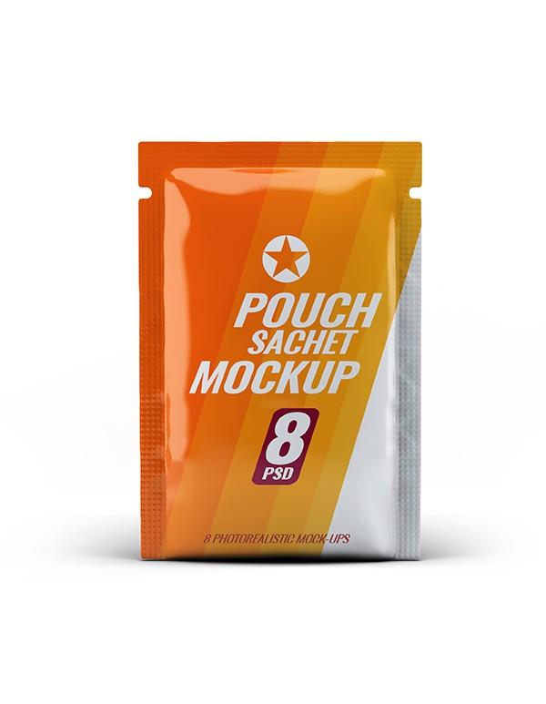 Pouch Sachet Mockup