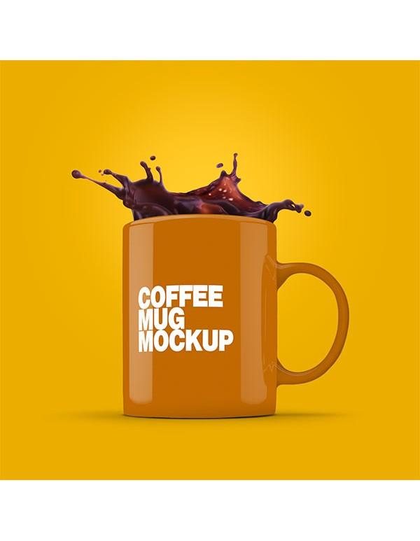 Coffee Mug with splash