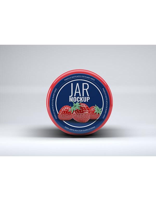 Realistic Preserve Jar Mock Up