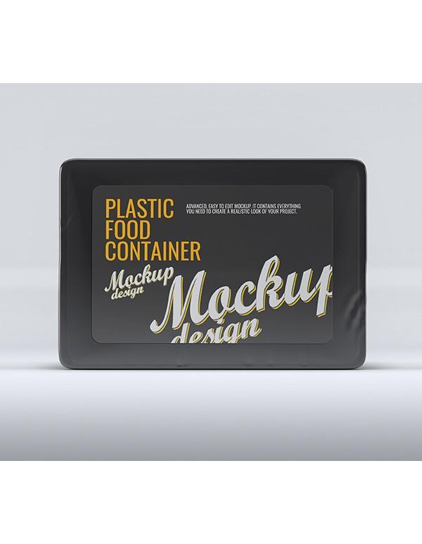 Plastic Food Tray Mockup