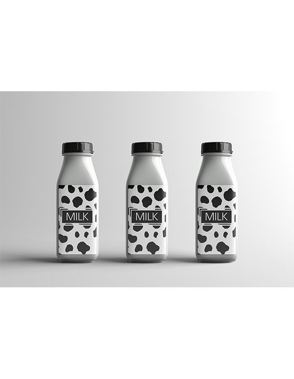 Plastic Milk Bottle Mockup
