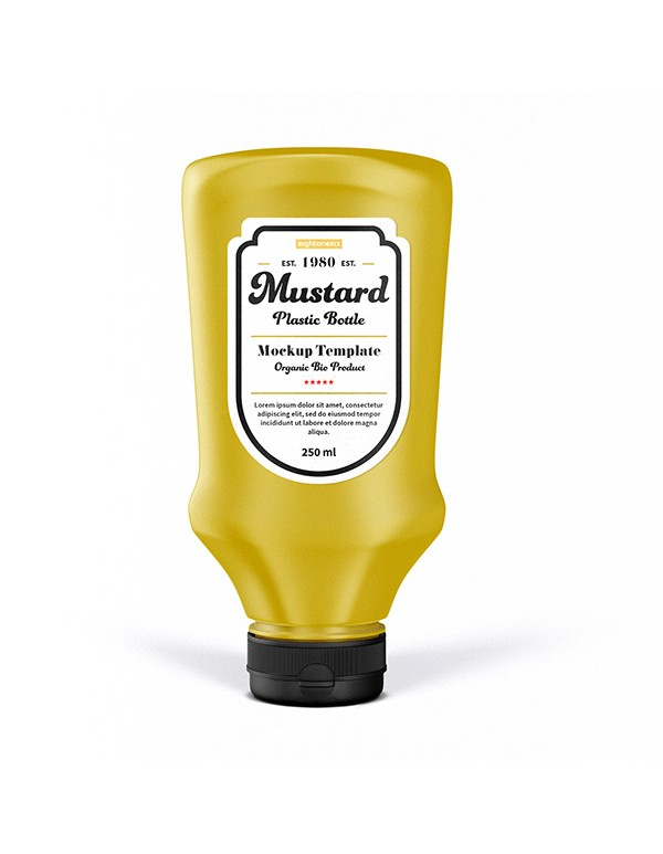 Mustard Oil  Bottle Mockup