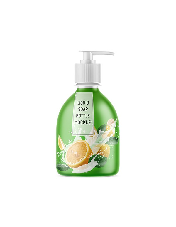 Liquid Soap Bottle Mockup in Matt Look