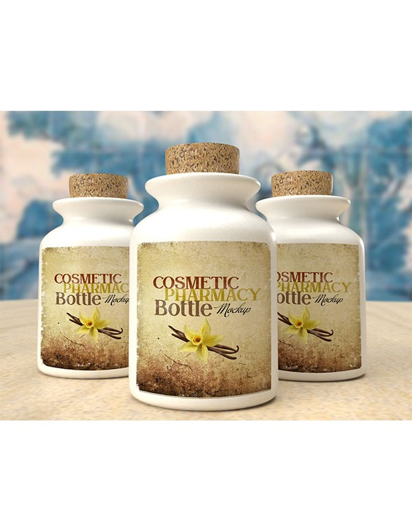 Cosmetic Pharmacy Bottle Mockup