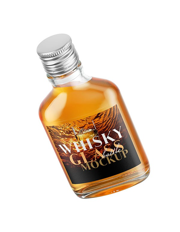Quarter Whisky Bottle Mockup