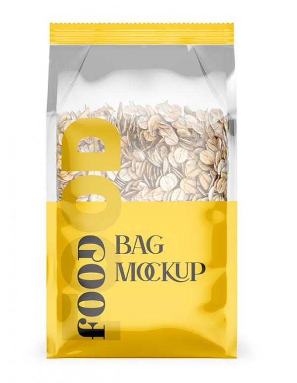 Food Bag Mockup with oat meals 02