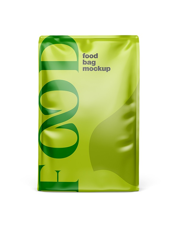 Glossy Food Bag Mockup 03