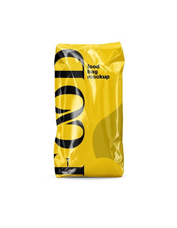 Glossy Food Bag Mockup  05