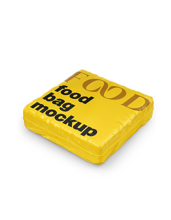 Glossy Food Bag Mockup  06