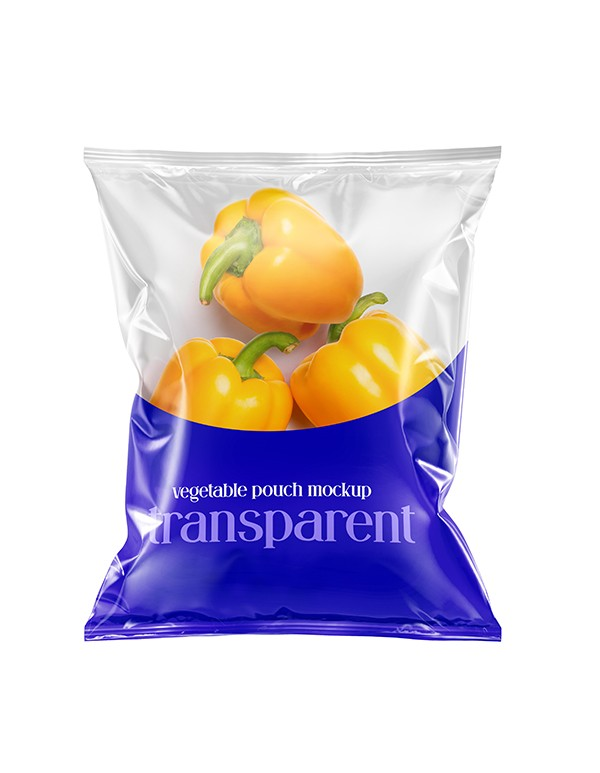 Metallic snack pack mockup