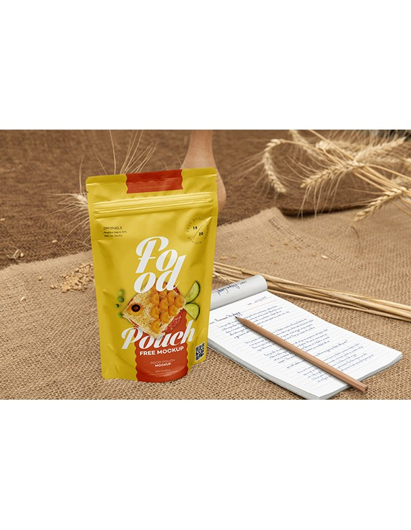Food Pouch  Mockup