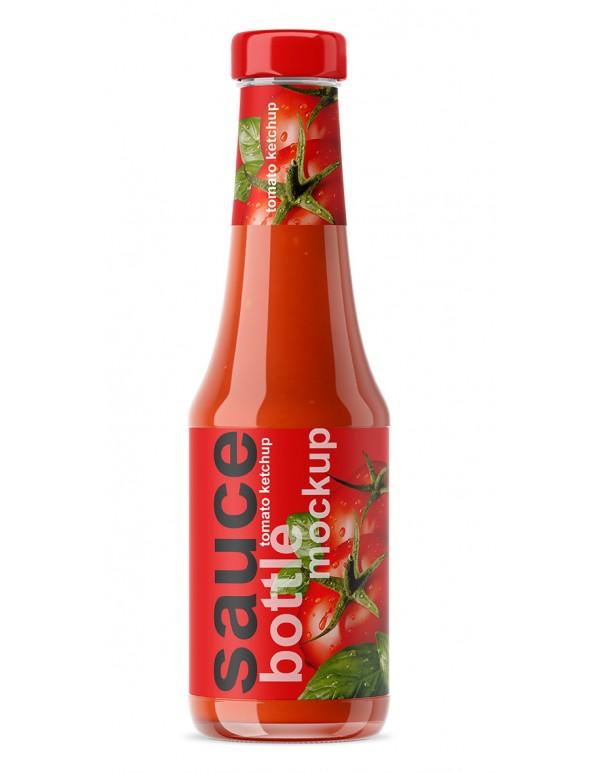 Ketchup Bottle Mockup 01