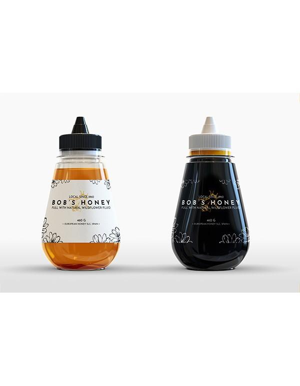 Honey Bottle Mockup