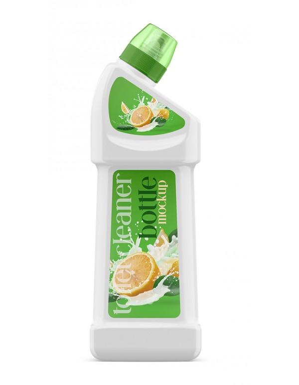 Toilet Cleaner Bottle Mockup