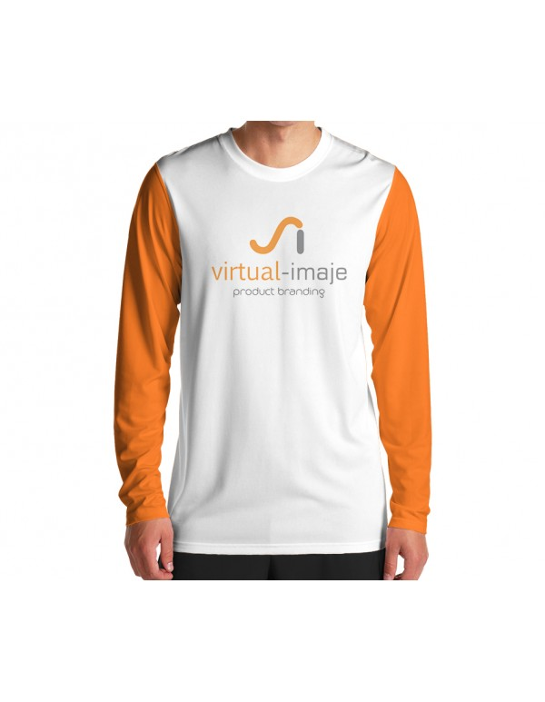 Long Sleeved T-Shirt Mockup Male-female