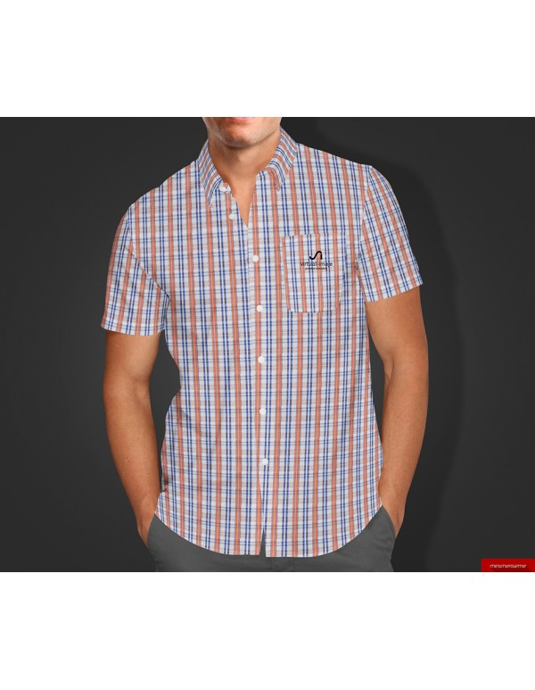Short Sleeves Dress Shirt Mockup