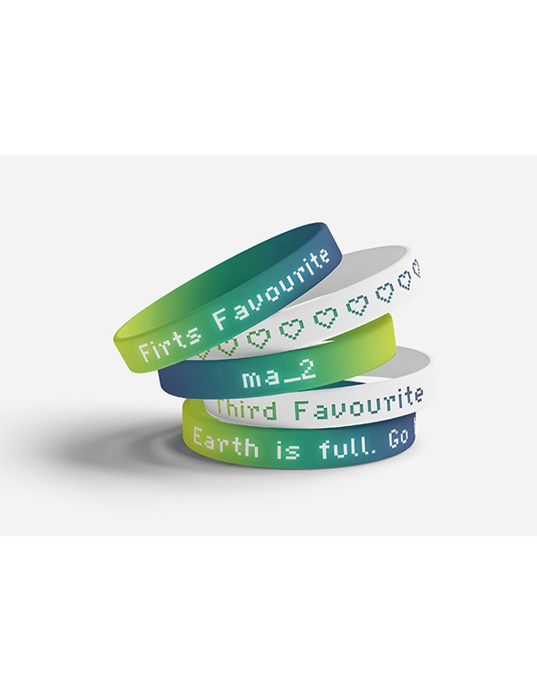 Silicon Wrist Band Mockup 01