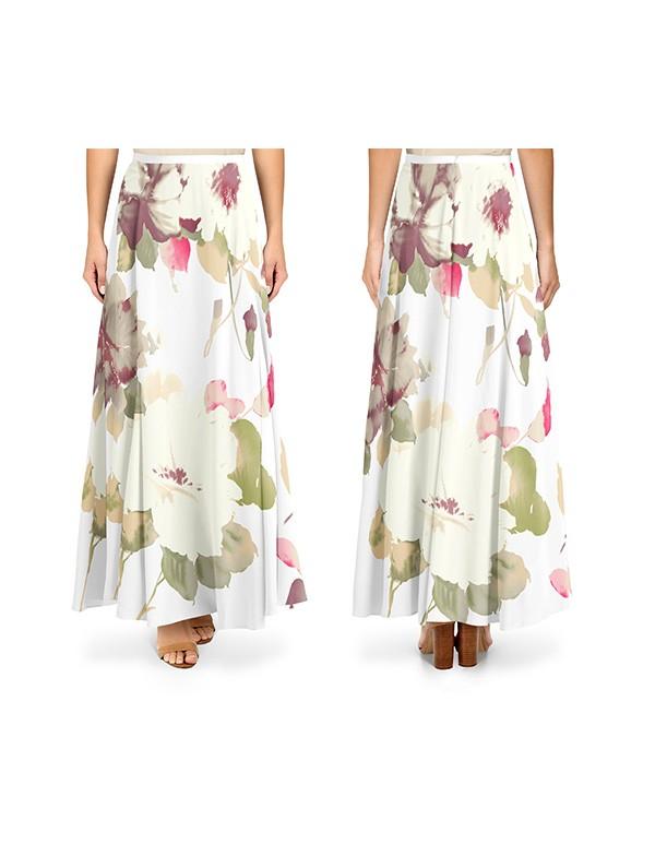 women-silk-flared-hem-maxi-skirt